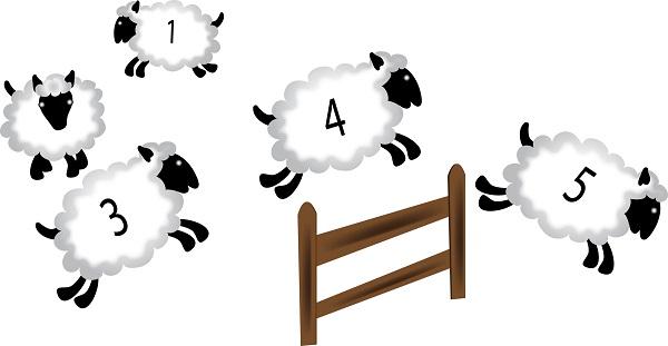 """音の秘密。「羊が一匹」より、""""one sheep""""の方が眠くなる、若干だけど。"""