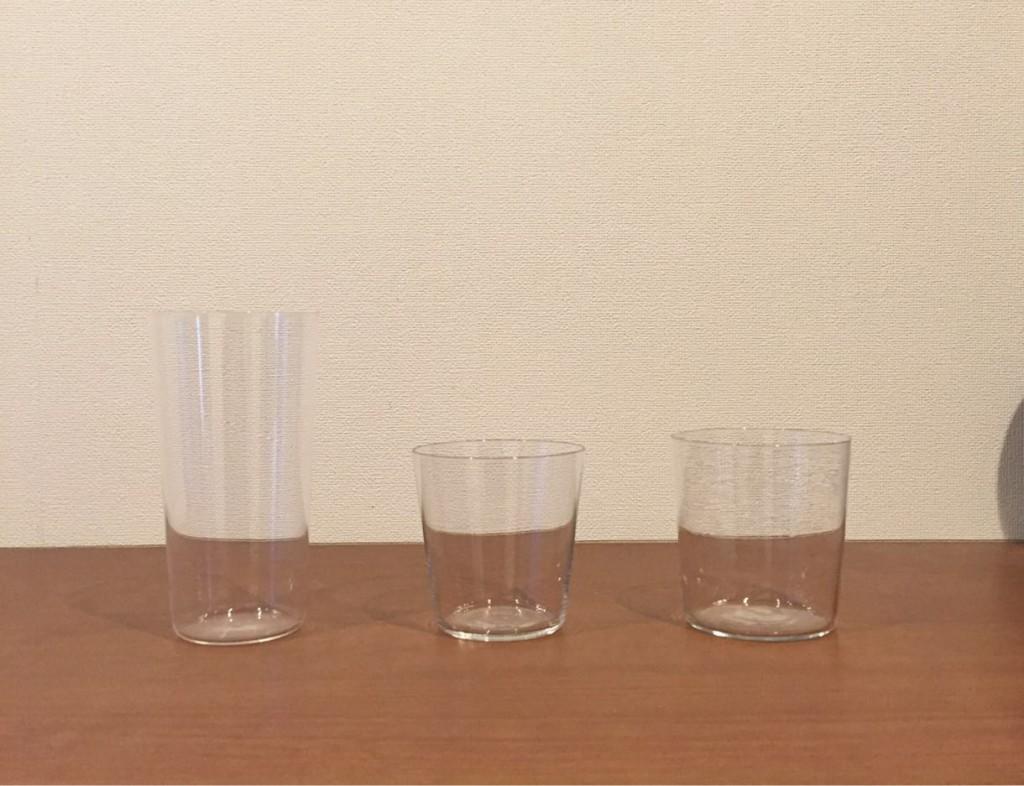 うすはり、テネル、うすぐらす。口当たりのいい薄手グラスを比べる。どれが自分に一番合っているか?