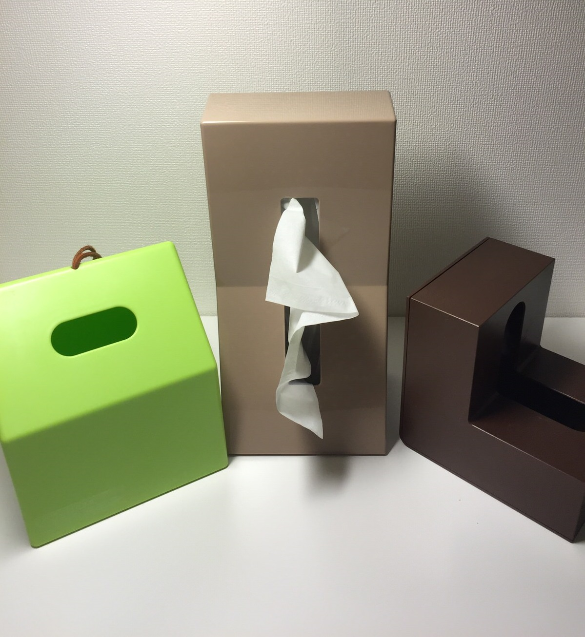 使いやすくてルックスのいいティッシュケース はこれ!4種使って比較してみた。