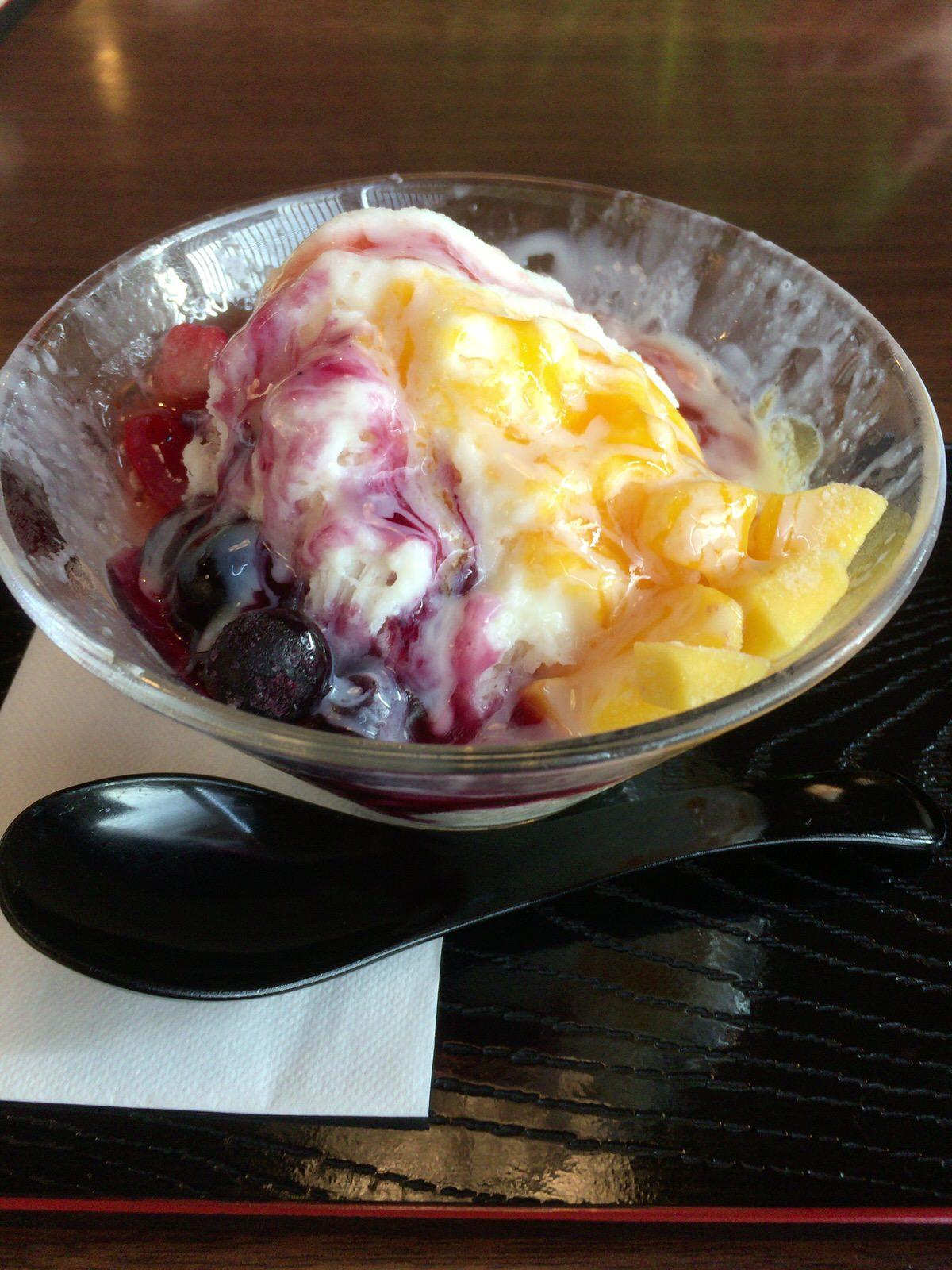 「湯元 小金湯」札幌で台湾かき氷が食べたい!!湯上がりに、フルーツの沢山乗った、ひんやりかき氷がベストマッチ。【札幌 南区】