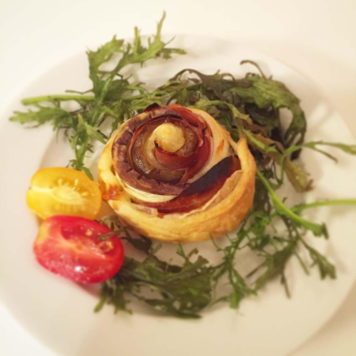 「ローザ・ディ・メランザーネ」 ナスと生ハムで作る簡単で見栄えのするイタリアン作りました。【おもてなしレシピ】