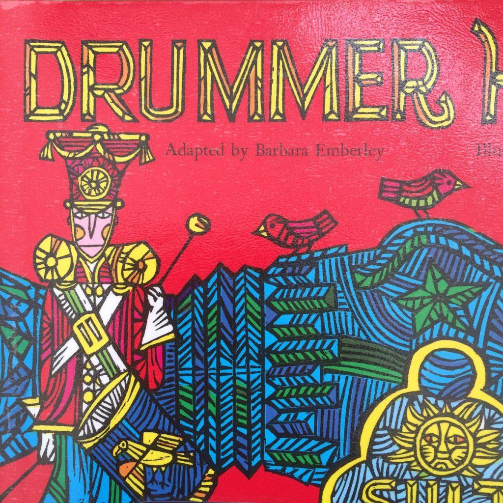 """ライミングが楽しい""""Drummer Hoff"""" (エド・エンバリー:作・イラスト)""""Go Away, Big Green Monster!""""でも有名な Ed Emberleyの絵本。"""